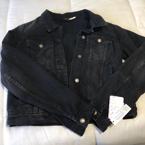 Black denim jean jacket - Free People